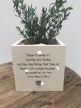 Personalised Flower / Plant Pot gift Auntie & Uncle OR ANY NAME Great Aunty Aunt